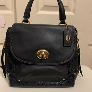 Coach Faye backpack in midnight blue